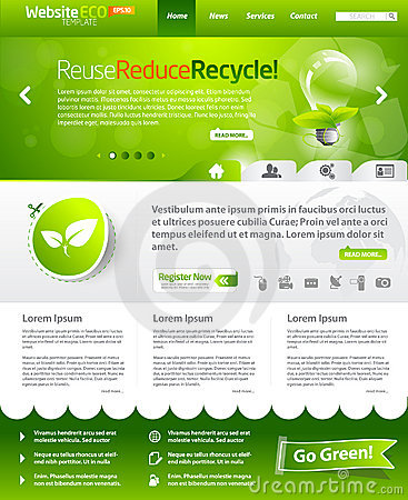 Green ecology web template layout