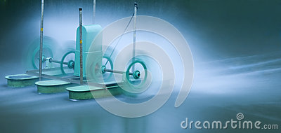 Green electric aerator for water treatment