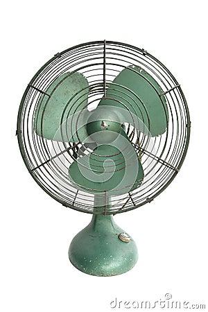 Green electric fan