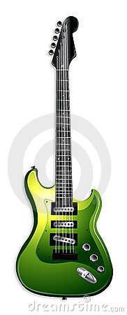 Green Electric Guitar Illustration