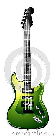 Green Electric Guitar Illustration