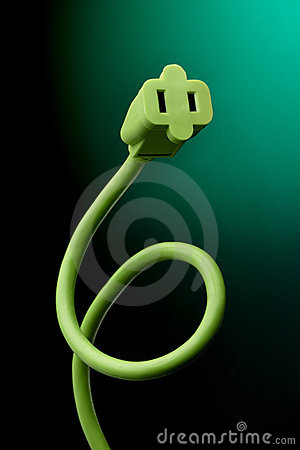 Green electrical cord