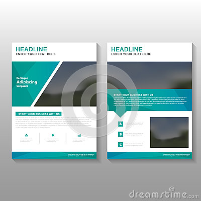 Free Green Elegance Vector Leaflet Brochure Flyer Business Proposal Template Design, Book Cover Layout Design, Abstract Green Template Stock Photos - 68747603