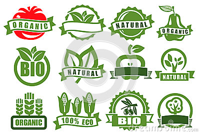Green emblems of eco