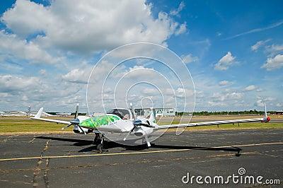 Green energy aircraft Editorial Photography