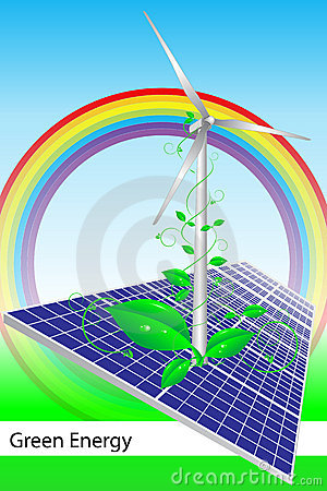 Free Green Energy - Brochure Cover Or Business Card Royalty Free Stock Image - 8930316
