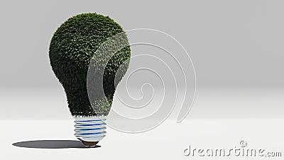 Green energy bulb. 3D rendering stock video footage