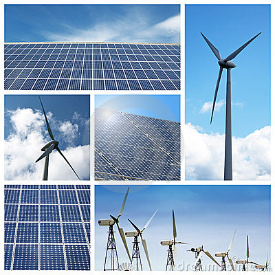 Free Green Energy Collage Royalty Free Stock Photos - 15724788