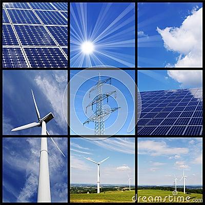 Free Green Energy Collage Stock Photos - 19093493
