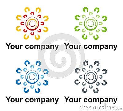 Green energy company logo