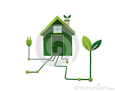 Green energy in the home vector