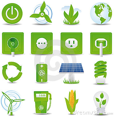 Free Green Energy Icon Set Stock Image - 9065431
