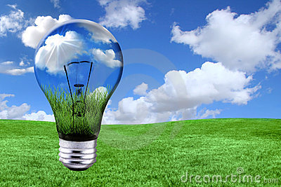 Green Energy Solutions With Light Bulb Morphed Int
