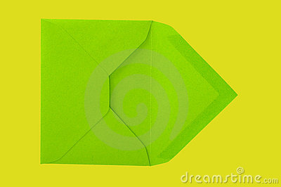 Green envelope.
