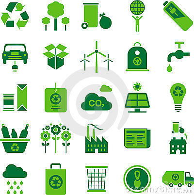Free Green Environment And Recycle Icons Royalty Free Stock Image - 24184786