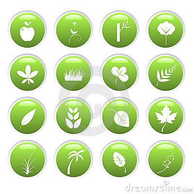 Free Green Environment Icons Stock Image - 5746681