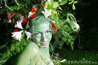 Green environmental face painting