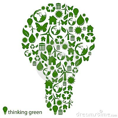 Green environmental light bulb