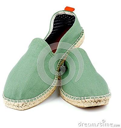 Free Green Espadrilles Stock Photography - 55880402