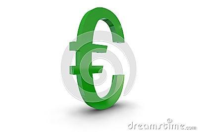 Green Euro Symbol