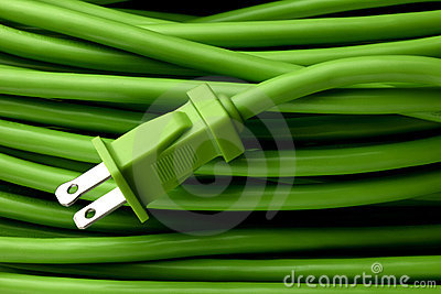 Green extension cord