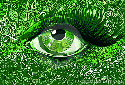 Green eye
