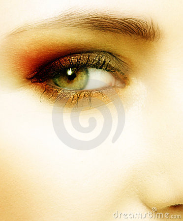 Free Green Eye Of A Woman Stock Images - 1233204