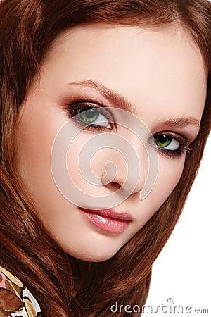 Free Green-eyed Beauty Stock Photography - 19228222