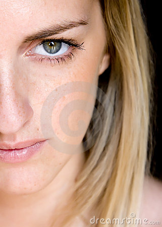Free Green Eyed Young Woman Stock Photos - 5093733