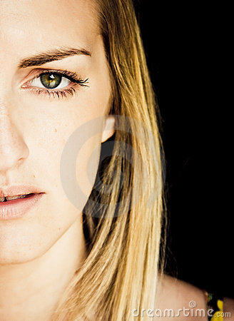 Free Green Eyed Young Woman Stock Photography - 5192852