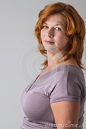 Green Eyes And Red Hair Stock Photo Image 43387540