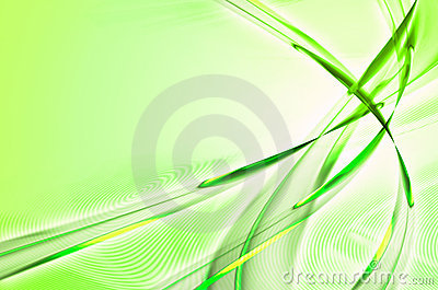 Green feathery abstract