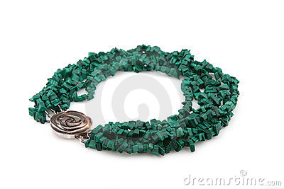 Green female necklace