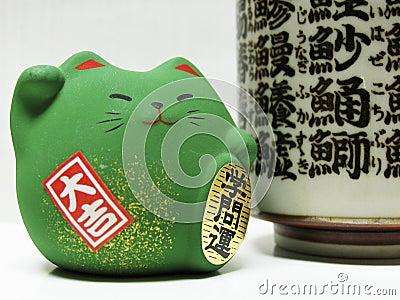 Green Feng Shui Cat