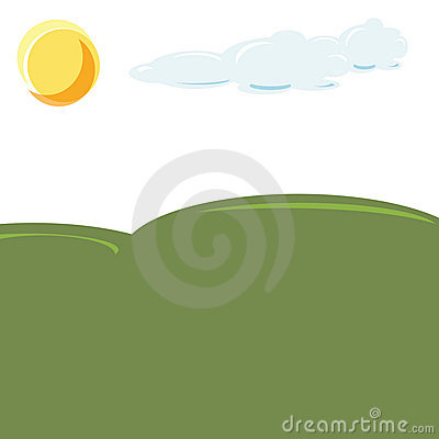 Green field illustration