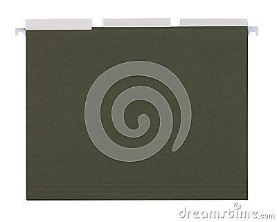 Green File folders