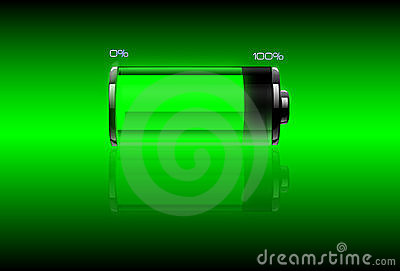 Green filled battery