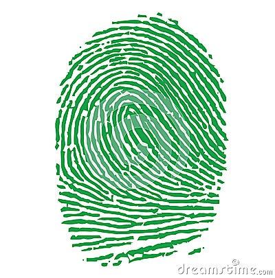 Green Fingerprint Illustration