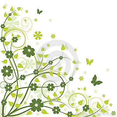 Free Green Floral Background Stock Images - 10674664