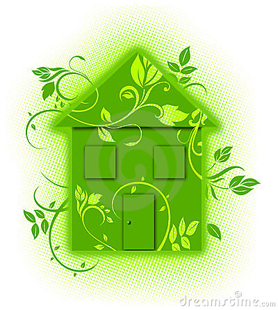 Green floral eco house