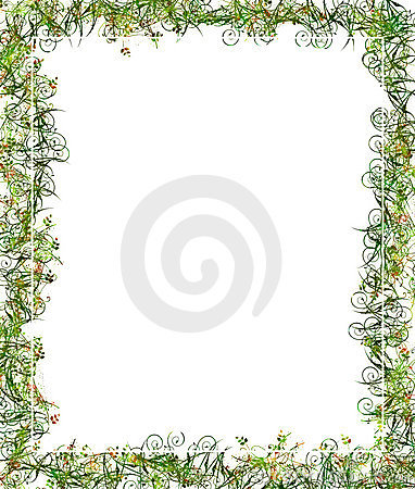 Green Floral Frame or Border