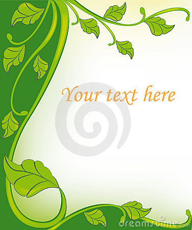 Green floral frame elements