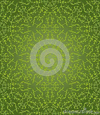 Green floral hexagonal pattern
