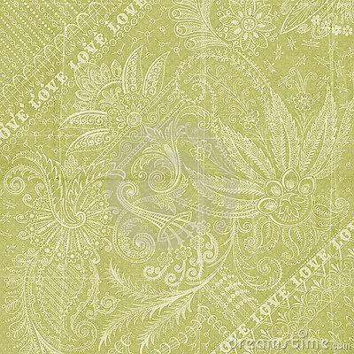 Free Green Floral Love Background Scrapbook Paper Royalty Free Stock Photos - 12241268