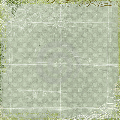Green floral love background scrapbook paper