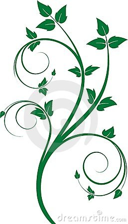 Green floral ornament