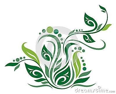Green flower texture