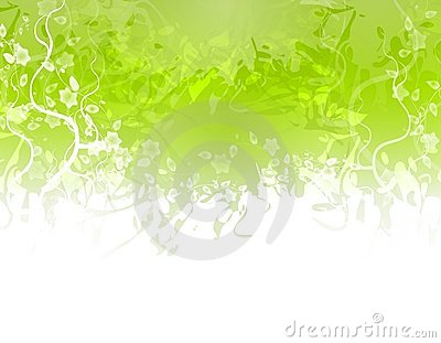 Green Flower Texture Border