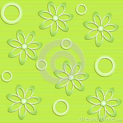 Green flowers on green background