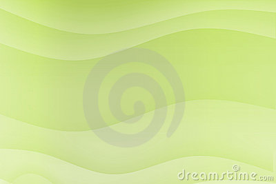 Green Flowing Soothing Waves